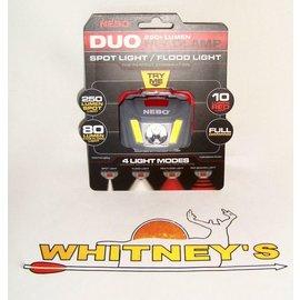 Nebo NEBO 250+ Lumen DUO Head Lamp 4 Light Modes-#6444