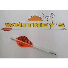 Bohning Company, LTD Bohning Blazer Quikfletch 6 PK Orange/Black Tiger- 101001OT