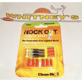 Clean Shot Archery, Inc. Clean Shot Nock Out - Green - 3 Pack-85-1050
