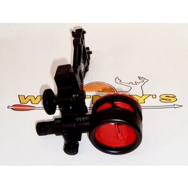 Axion Archery Axion Shift Single Pin Mover Sight Black .019 W/Red Guard Ring-AAA-4100B-R