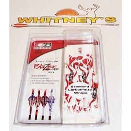 Bohning Company, LTD Bohning Blazer Vanes/Wrap Combo, Red & White Flame-101040RWF