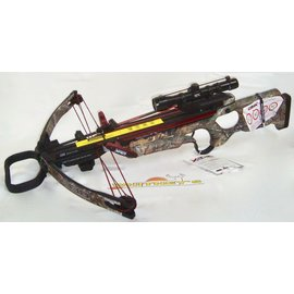 Elite Inc. Cam X Crossbow X330 RX - W/ NIR Scope, 4 Arrows, Roller Rope Cocker