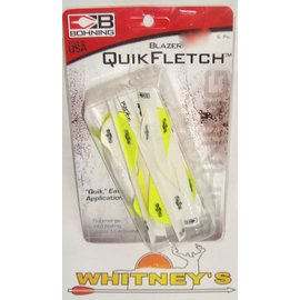 "Bohning Company, LTD NAP Bohning QuikFletch Blazer Vanes 2"" 6pk Neon Yellow / White -1001NY"