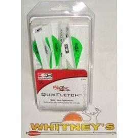 Bohning Company, LTD Bohning Blazer Quikfletch 6 PK Green - Item# 101001NG