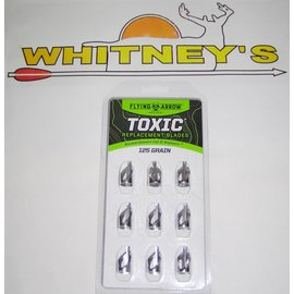 Flying Arrow Archery Flying Arrow Archery-The Toxic Broadhead Replacement Blades- 125 Grain - T9-125