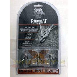 Fulton Precision Archery LLC. Ram Cat CROSSBOW Broadheads- 125 Grain -by Smoke Broadheads-RAM125CB