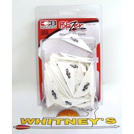 Bohning Company, LTD Bohning Blazer Vanes - 100 pack in White