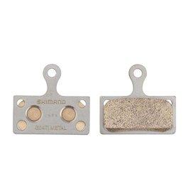 Shimano Shimano, BR-M9000, G04TI, Disc brake pads, Metal, Without fins, Pair, F type, Y8LW98010