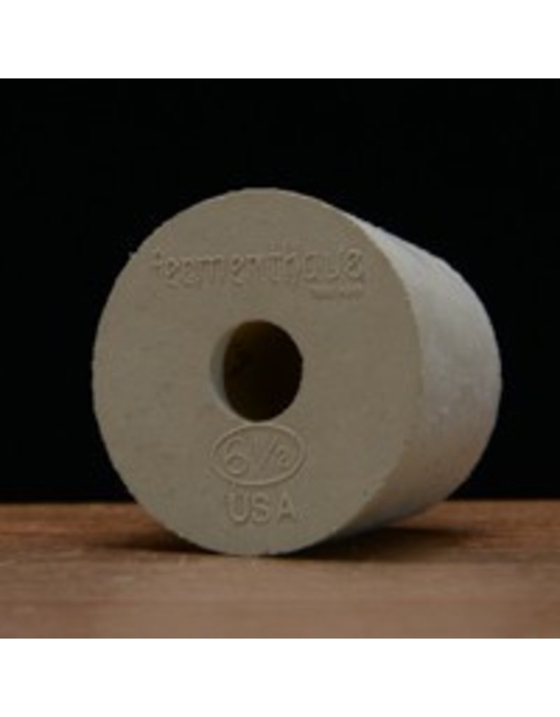 Drilled Rubber Stopper #6 1/2