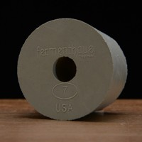 Drilled Rubber Stopper #7