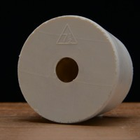 Drilled Rubber Stopper #7 1/2