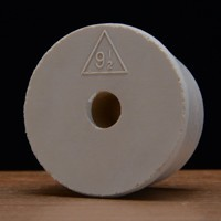 Drilled Rubber Stopper #9 1/2