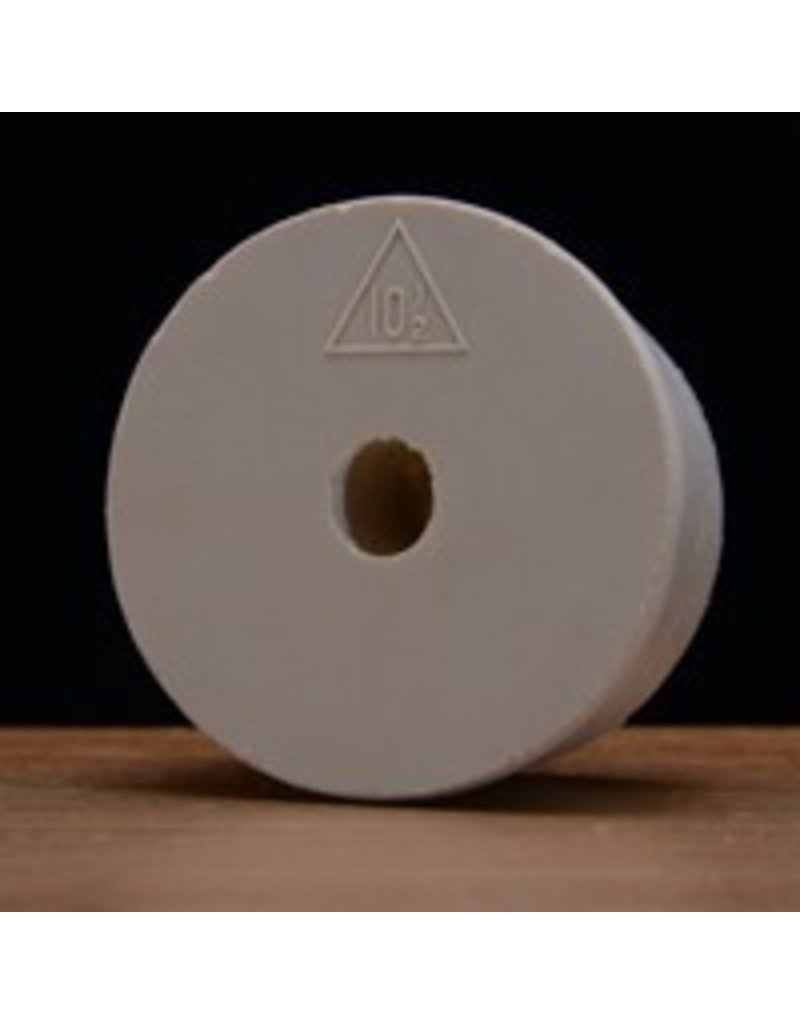 Drilled Rubber Stopper #10 1/2