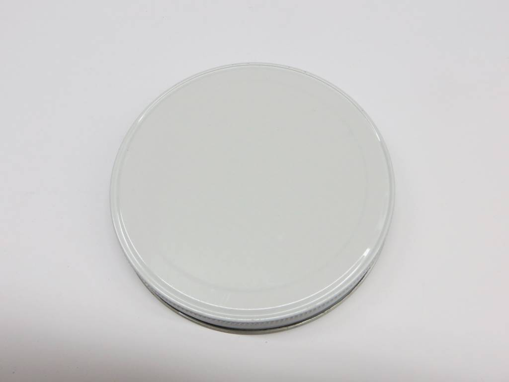 110-400 White Metal Jar Lid