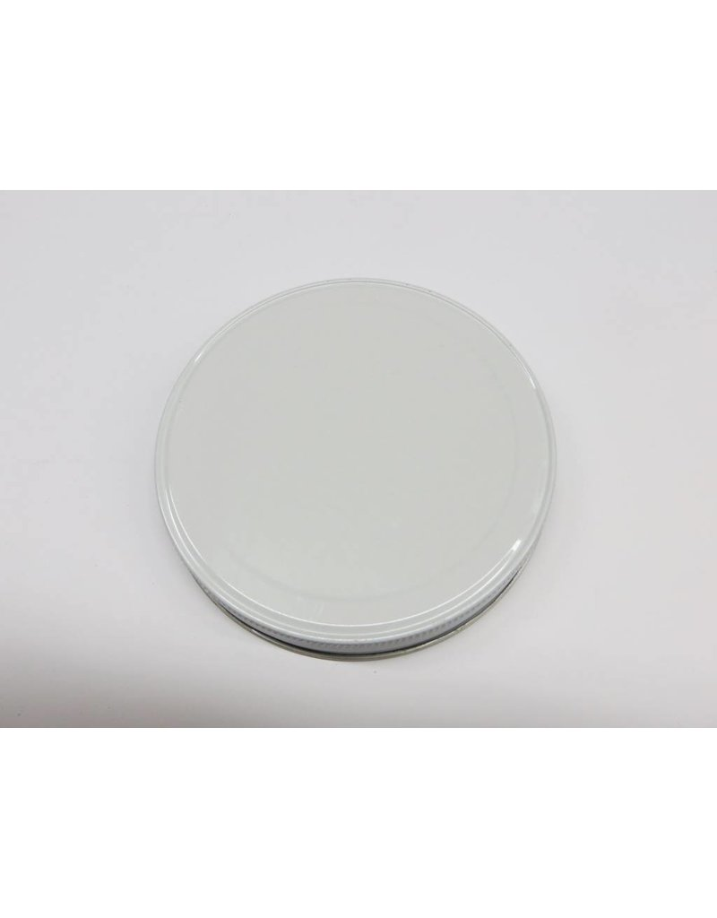 110-400 White Metal Jar Lid