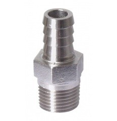 1/2 in. mpt x 1/2 in. Barb - Stainless