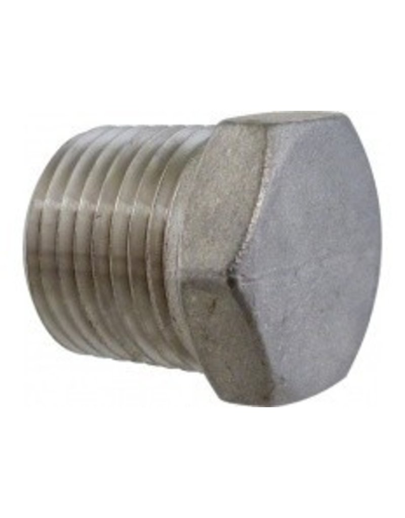 1/2 in MPT Hollow Plug - Stainless