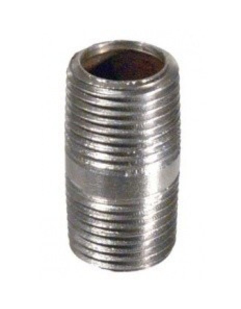Nipple - 1/2 in x 1.5 in Threaded- Stainless