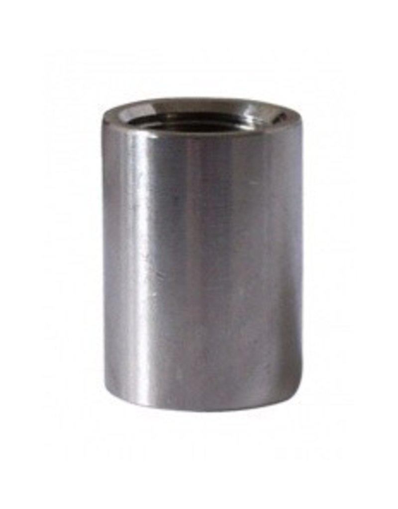 Full Coupler - 1/2 in - Stainless Steel