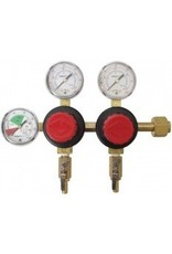 CO2 Regulator - Dual Body - Three Gauge