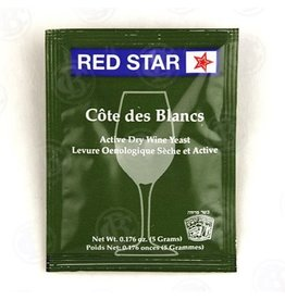 Red Star Cote de Blanc Wine Yeast, 5 gm - Red Star