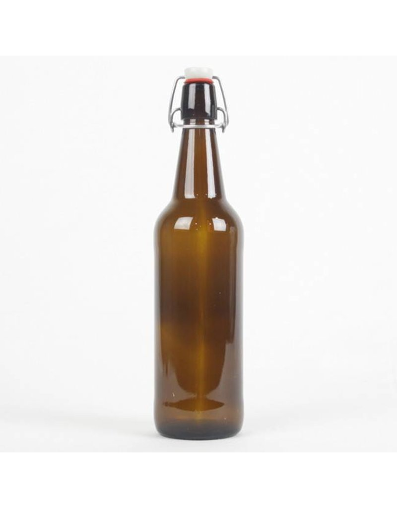 Amber Flip Top Bottle, 25 oz.