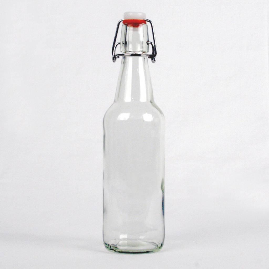 Clear Flip Top Bottle, 16 oz.