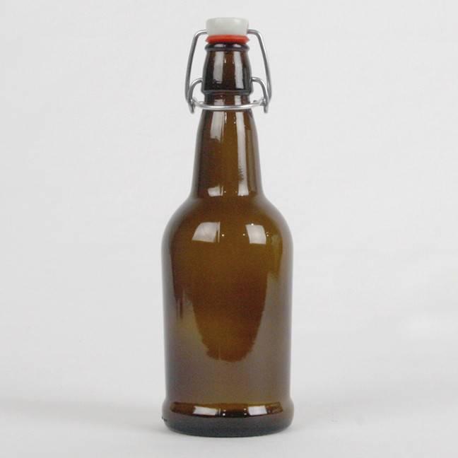 Amber EZ Cap 16 oz / Bottles - Case/12 with caps