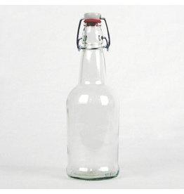 Clear EZ Cap Bottles, 16 oz - Case/12 with caps
