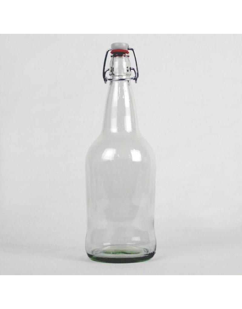 Clear EZ Cap Bottles - Litre Case/12 with caps