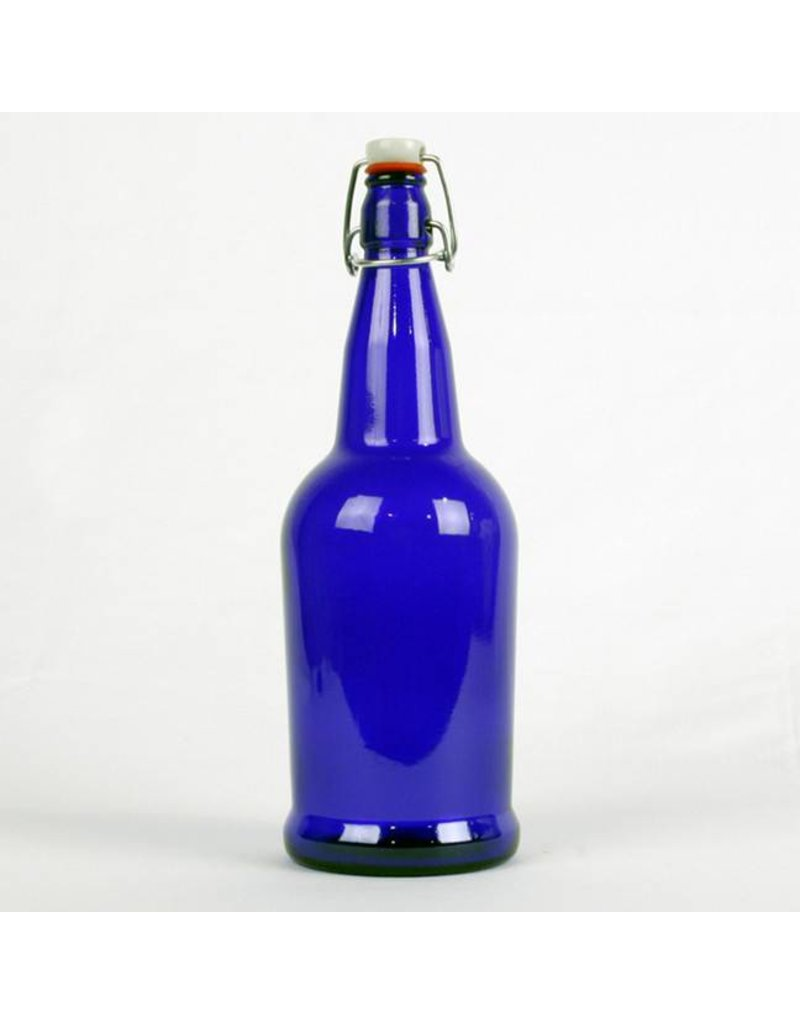 Blue, EZ Cap Bottles, 1 L, cs/12