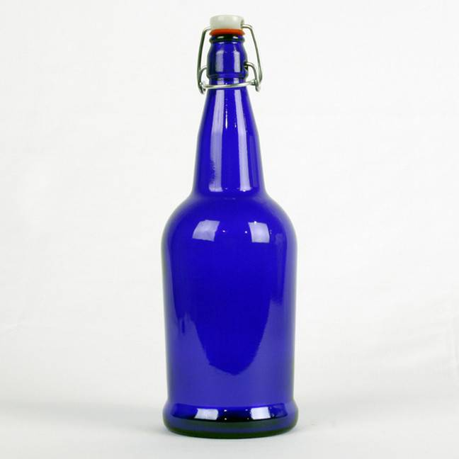 Blue, EZ Cap Bottles, 1 L, cs/12