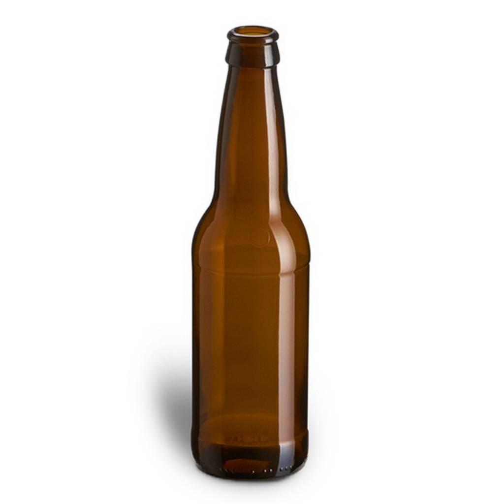 Beer Bottles, 12 oz., Brown - Case/24