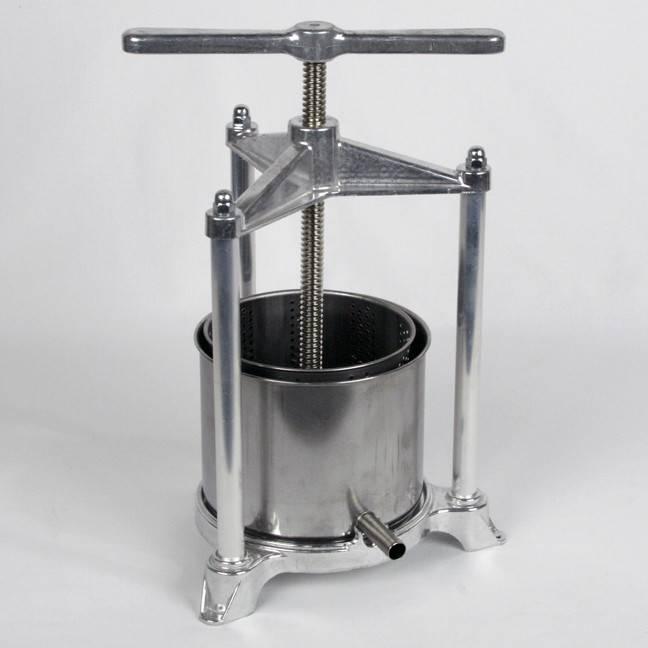 Fruit Press 14 cm, Aluminum / Stainless Steel Medium 3lt cage
