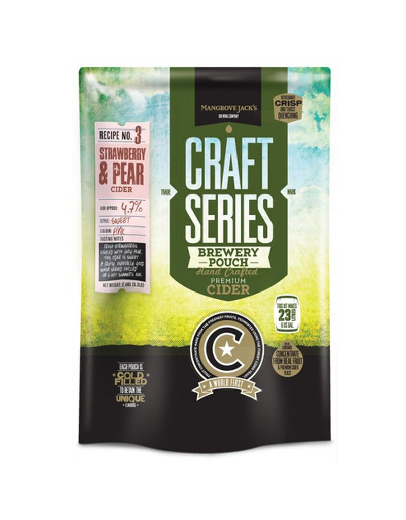 Mangrove Jack's Craft Series Strawberry & Pear Cider Pouch 2.4 kg