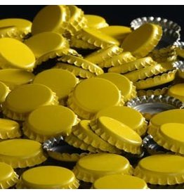 144 each - Yellow Bottle Caps