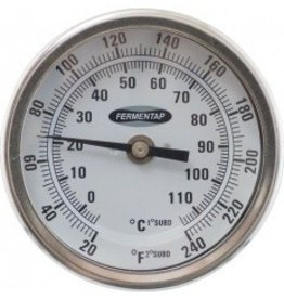 Fermentap Thermometer (3in. Face x 6in. Probe)