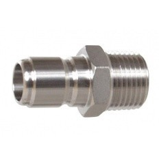 Male Stainless Steel Quick Disconnect w/ MPT