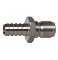 "Male Stainless Steel Quick Disconnect w/ 1/2"" Barb"
