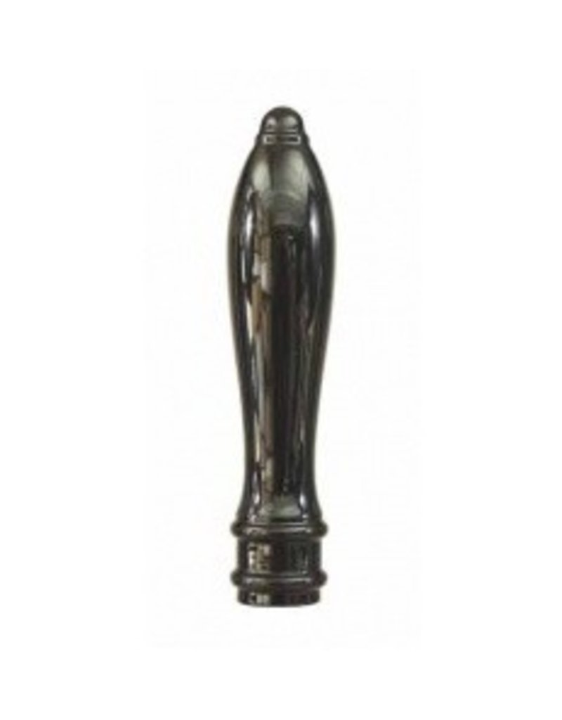 Faucet Handle, 6 in Pub Style Black