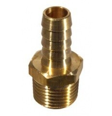 Brass - 1/2 in. mpt x 1/2 in. Barb