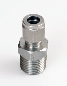 """1/2"""" mpt x 3/8"""" Compression, Stainless Steel"""