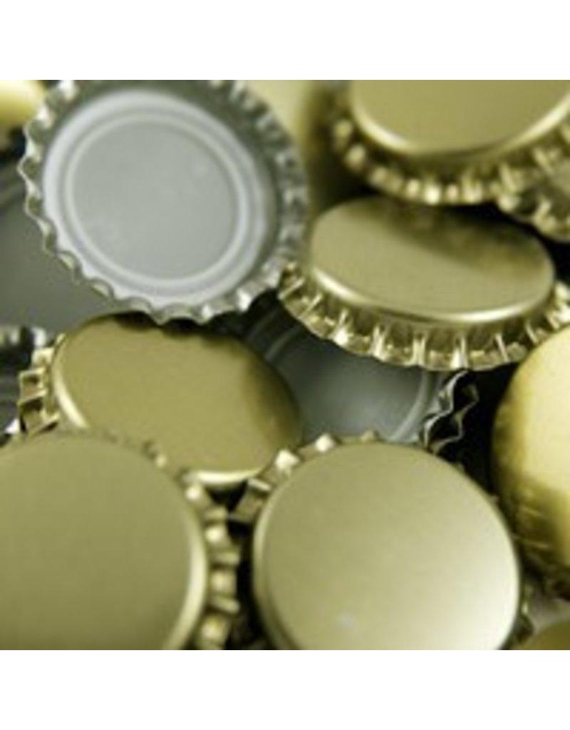 144 each- Plain Gold Caps