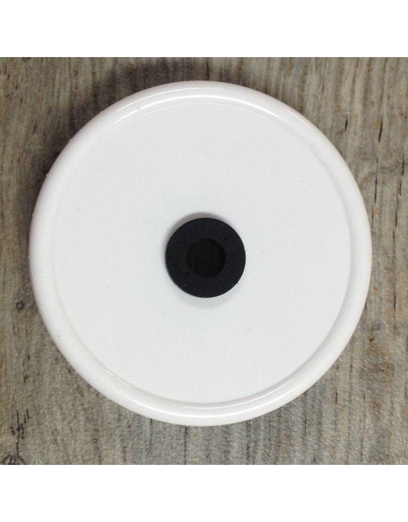 Grommeted Wide Mouth Canning Lid, Plastic