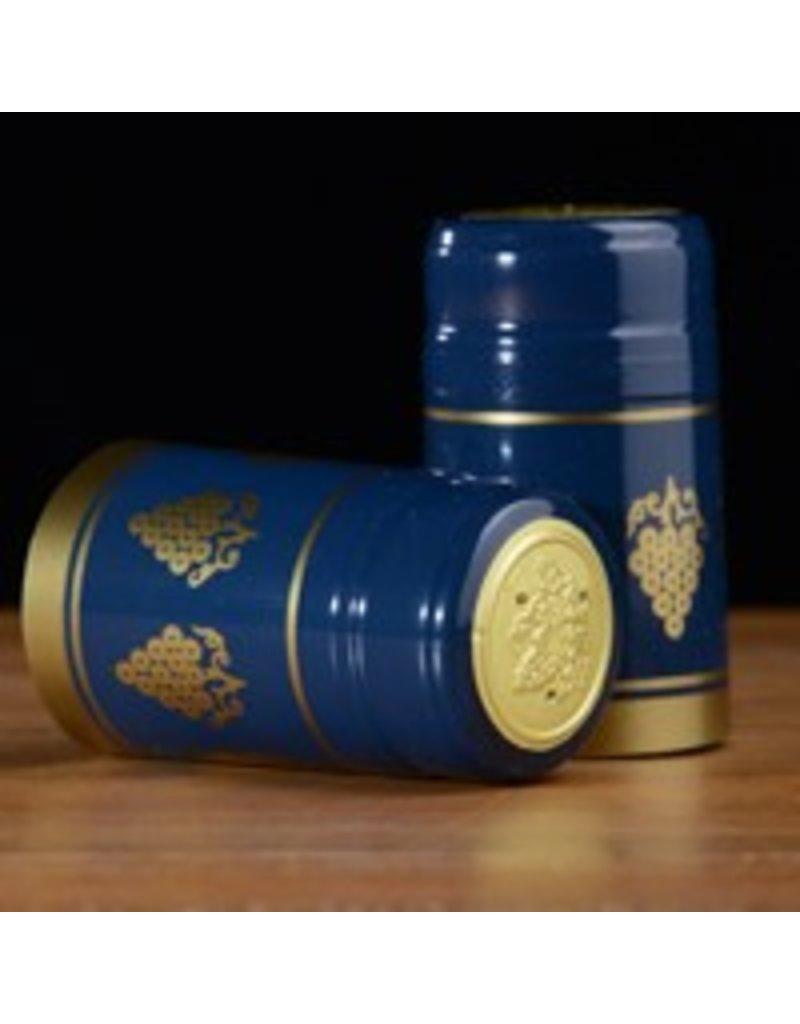Blue w/ Gold Grapes PVC, 30 Pack