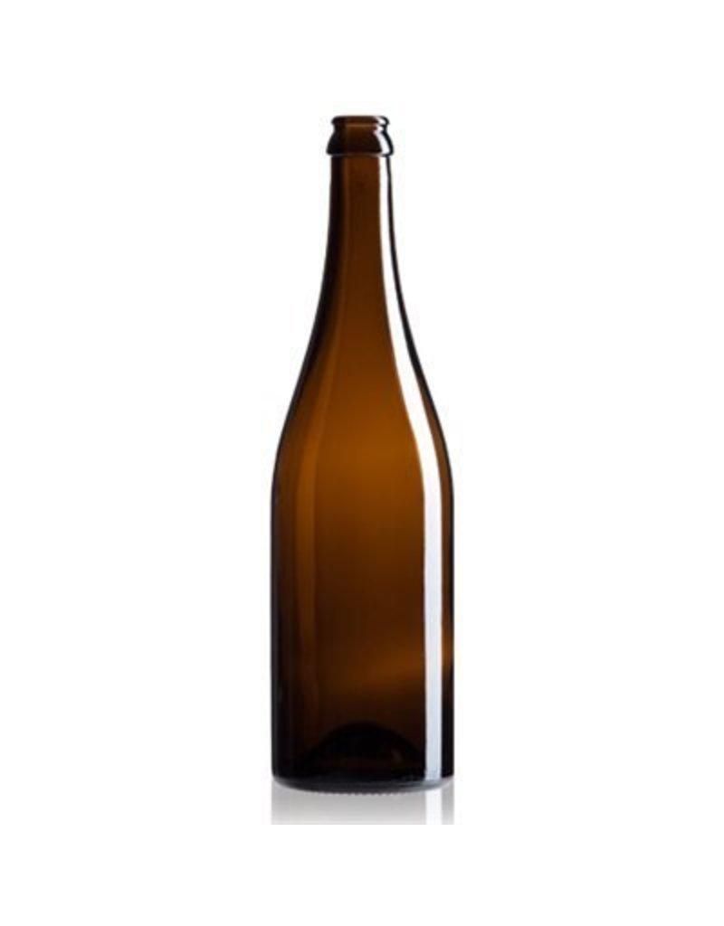 Amber Champagne Bottles, 26mm - cs/12