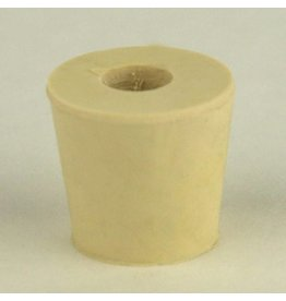 Drilled Rubber Stopper #4