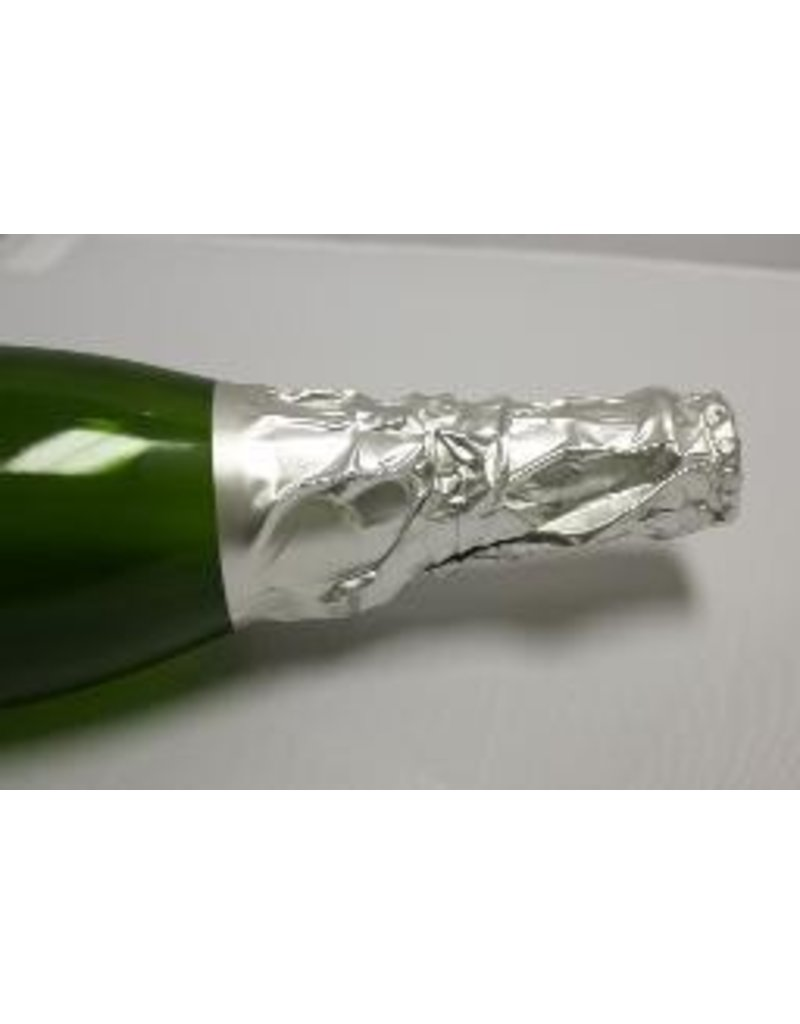 Pebbled Silver Champagne Foil, 50 Pack