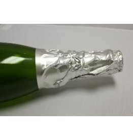 Pebbled Silver Champagne Foil, 15 Pack
