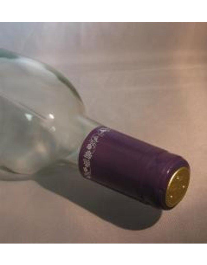 Purple w/Silver Grapes PVC, 15 Pack